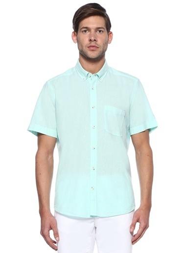 Beymen Club Kısa Kollu Gömlek Yeşil